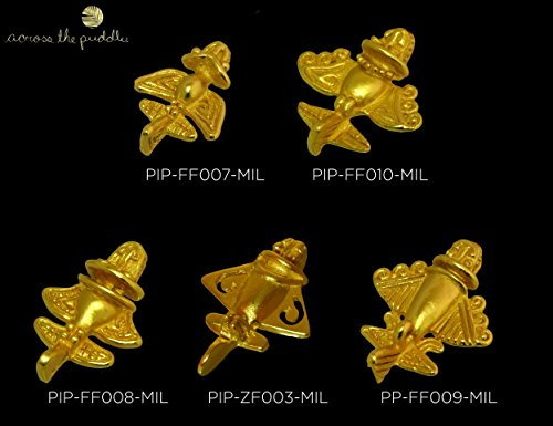 Smart Across The Puddle 24k Gp Ancient Aliens Flyer/golden Jet-9 Dangle Earrings Astronauts