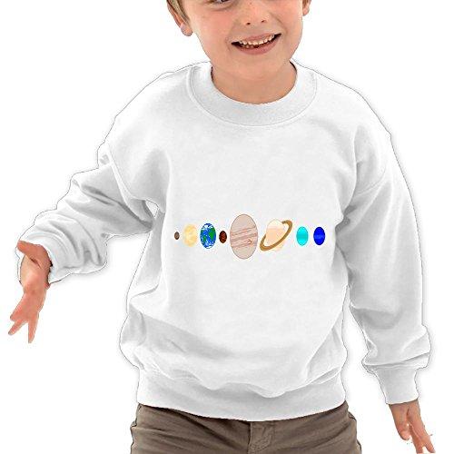Childrens Solar System Painting Kids Comfortable Hooded Hoodies Sweatshirt