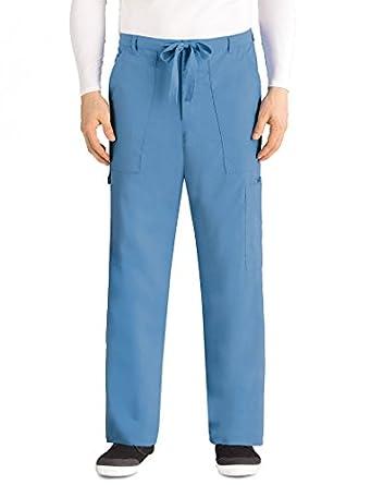 692604ac0ab Greys Anatomy Men's Tall 6 Pocket Zip Fly Drawstring Scrub Pant, Ceil,  Large/Tall: Amazon.in: Amazon.in