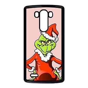 The Grinch Christmas Illustration LG G3 Cell Phone Case Black Pretty Present zhm004_5026677