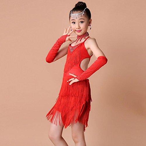 6e6cec513 Fineser Kids Little Girl Dance Costumes Tassel Dancing Latin Rumba ...