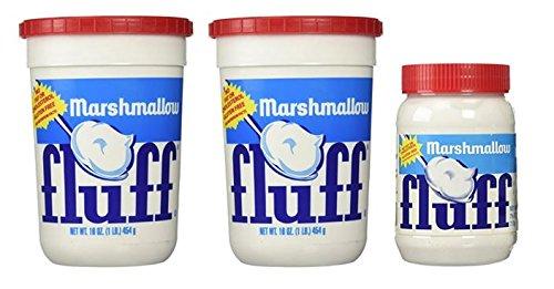 Marshmallow Fluff 16 oz Plastic Tub (Pack of 2) & (1) Fluff 7.5 oz (Pack of 3)