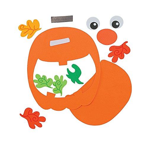 Pumpkin Photo Frame Magnet Craft Kit (Makes 12) - Crafts for Kids & Photo Crafts for $<!--$12.99-->