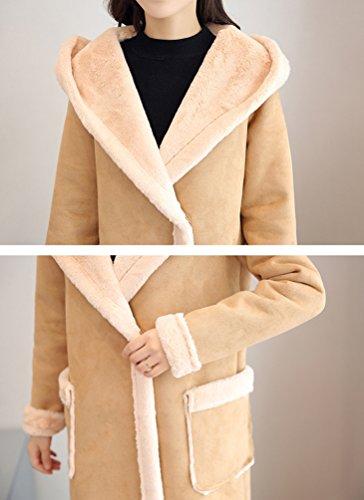 Moda Tendencias Capa de WanYang Caqui AbrigoCalidad de las la Mujeres Señoras Elegante qF44TY
