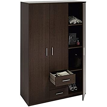 Kleiderschrank 3 Türen und 3 Schubladen Schlafzimmer wenge 180 cm ...