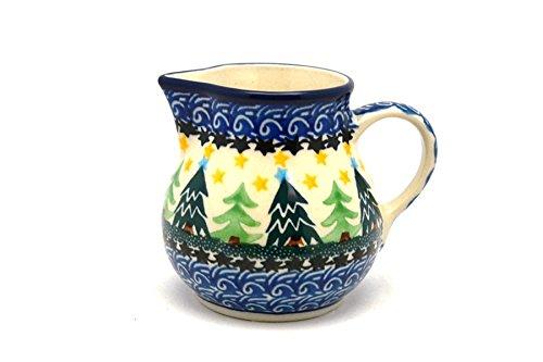 Christmas Tree Pitcher - Polish Pottery Creamer - 4 oz. - Christmas Trees