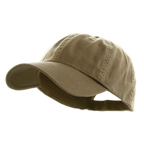 MG Low Profile Dyed Cotton Twill Cap - Khaki W39S55D