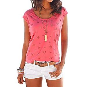 YOINS Donna Magliette Manica Lunga Donna T-Shirt in Cotone Basic Camicetta Estivo Camicia Casuale Top 2 spesavip
