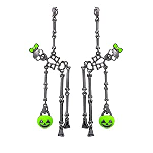 Rosemarie Collections Women's Dancing Skeletons Halloween Earrings