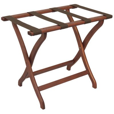 Luggage Pros Deluxe Luggage Rack with Brown Webbing by Luggage Pros