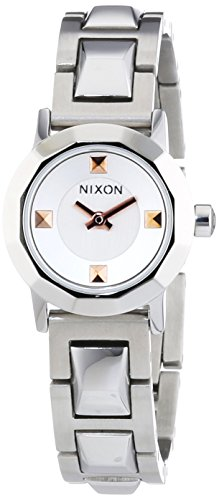 Nixon Women's Mini B SS Analog Quartz Silver Watch