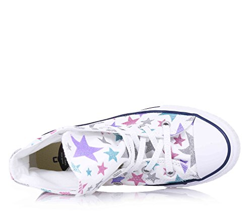 stars Alta Hi Taylor Sintetico White Grafics Converse Canvas Bambina Chuck Sneaker OvwxqF