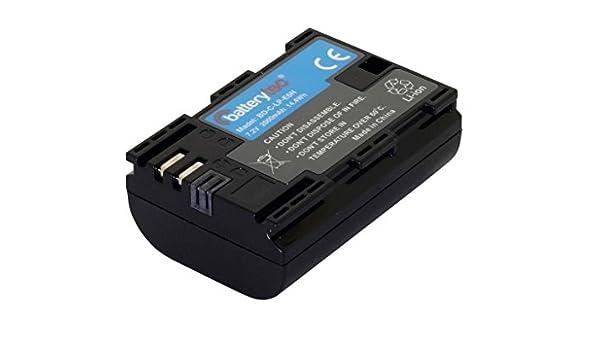60D EOS 5DS R 7.4V,2040mAh, Li-Ion, 12 Meses de garant/ía EOS 5D Mark IV 6D 5D Mark II 7D EOS 80D EOS 5DS Batterytec/® Bater/ía de Repuesto para Canon c/ámara LP-E6N EOS 5D Mark III EOS 70D