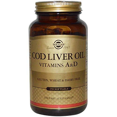 Solgar – Norwegian Cod Liver Oil (Vitamin & D Supplement) 250 Softgels