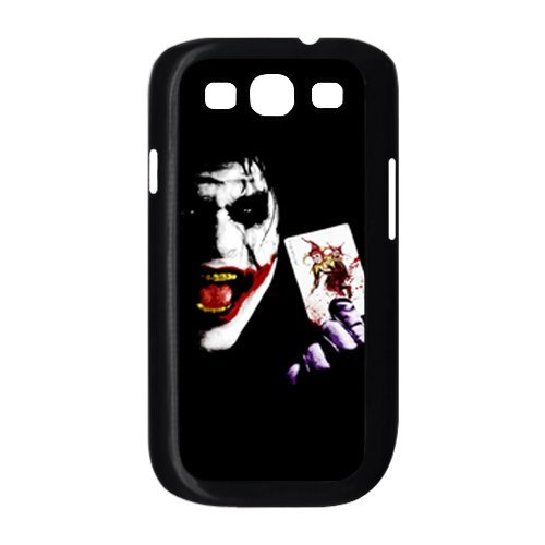 Batman The Joker Why so Serious with Card Unique Samsung Galaxy S3 I9300 Durable Hard Plastic Case Cover Personalized Treasure (Serious Man Poster)