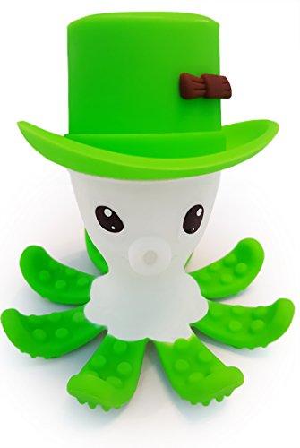 BPA frei Baby- Beißring , hilft Gums zu stimulieren und Lindert Schmerzen beim Zahnen - Otto The Octopus . Auswahl aus 5 helle Farben, weiche , Lebensmittel Grage Silikon . Sicher und Fun (green)