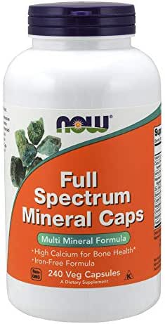 NOW Full Spectrum Mineral Caps, 240 Veg Capsules