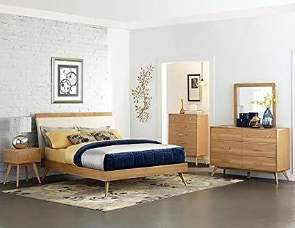 Amazon.com: Homelegance Anika Danish Mid Century Platform Bed