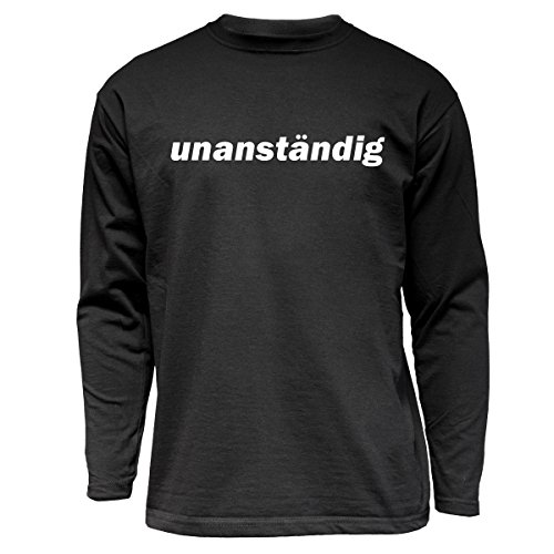 """Nukular Langarm T-Shirt """"unanständig"""", das passende Shirt für Dich..."""