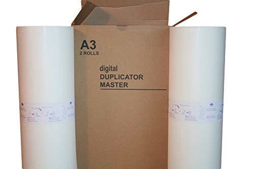 Gestetner Master - 2 Wholesale Widgets Brand HQ40L Masters Compatible with Ricoh HQ-40L / Savin Part # 4566, for use in Gestetner CPMT18, CPMT24, Lanier LDD145. RICHQ40LC