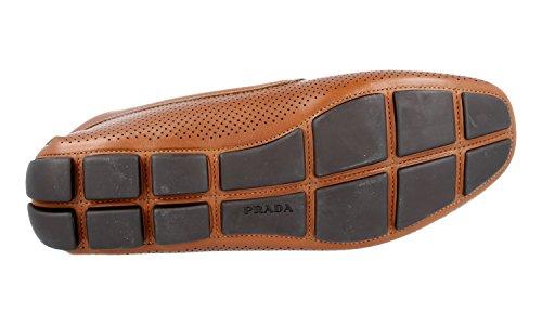 Prada Men's 2DD115 Brown Leather Business Shoes EU 9 (43)/US 10 by Prada (Image #6)'