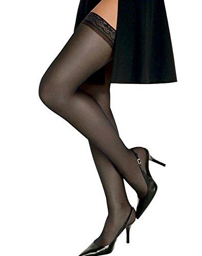 Hanes Womens Silk Reflections Silky Sheer Thigh High _Barely - Reflections Sheer Silk Silky