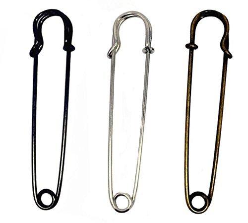6 pines de seguridad de color al azar con agujas dobladas para el pecho, hebilla de suéter, broche de cierre de joyería,...