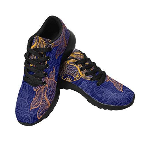 Disco Goldfish Shoes (INTERESTPRINT Women's Running Athletic Shoes Goldfish)