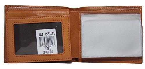 Custom Fancy Garland Star Long Ostrich Print Leather Wallet Brown