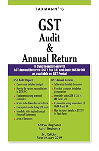 Taxmann GST Audit and Annual Return (3rd Edition Reprint May 2019)