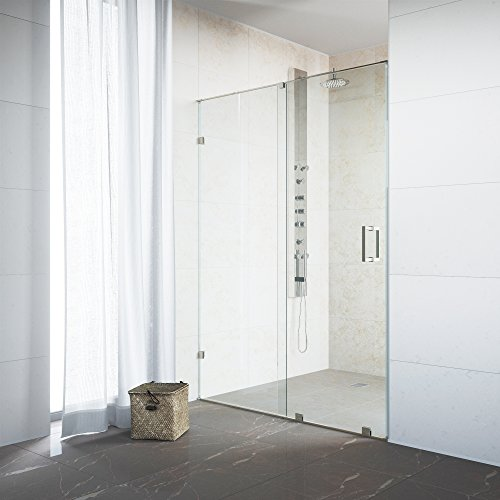 VIGO Ryland 46 to 48-in. Frameless Sliding Shower Door with .375-in. Clear Glass and Stainless Steel Hardware by Vigo