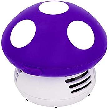 Small Vacuum Cleaner Creative Desktop Vacuum Cleaner Cartoon Mushroom Mini Keyboard Dust Collector (Purple)