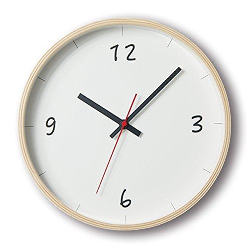 KATOMOKU plywood wall clock 6 スイープ(連続秒針) km-52NA φ252mm B01MSNW4K7