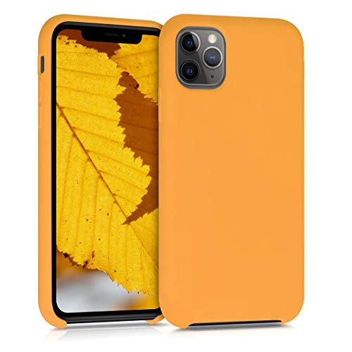 kwmobile TPU Silicone Case Compatible with Apple iPhone 11 Pro Max - Soft Flexible Rubber Protective Cover - Saffron Yellow
