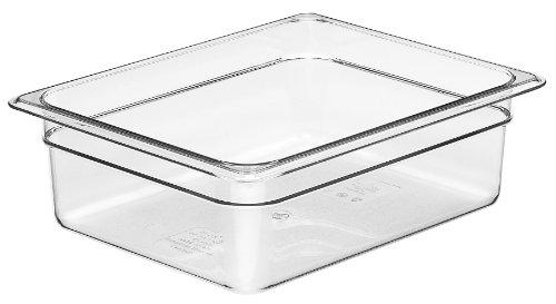 Cambro Camwear 24CW135 Food Pan, 1/2 by 4-Inch, Clear