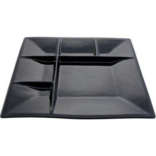 Swissmar F66104 Square Raclette/Fondue Plates, Black, Set of 4