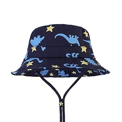 Big Dinosaur FtingSun S Sombrero de Dinosaurio de algod/ón para beb/és y ni/ños con Correa Ajustable para la Barbilla de 6 a 5 a/ños Aged 1-2Y