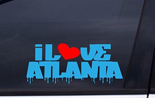 Stadium Fulton Atlanta (I LOVE ATLANTA vinyl decal 3