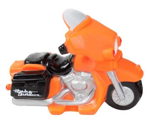 Harley-Davidson Motorcycle Squeaker Pet Toy 4.5 Inch Vinyl Orange H8200-H-V08DOG