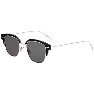 ecfe3ce9ec Image Unavailable. Image not available for. Color  Dior Homme Diortensity  7C5 Black Crystal Diortensity Square Sunglasses Lens Cat