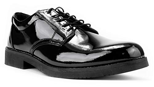 First Class Hi-Gloss Oxford Dress Shoes (11) Black