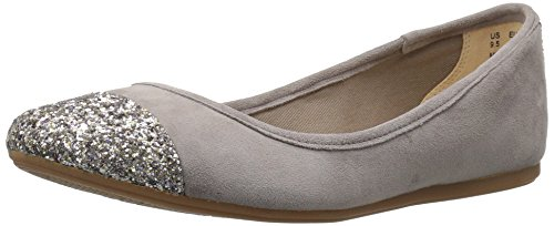 (Hush Puppies Women's Happee Heather Flat, Dark Taupe Sparkle Suede, 6 M US)