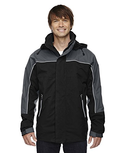 North End Men's Techno Performance 3-In-1 Mid-Length Jacket, BLACK 703, - Performance North End Techno