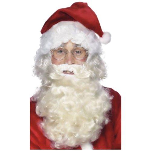 Silver Wire Framed Santa Specs Costume Accessory