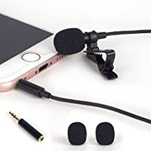 ATNY ATM-99 Professional Condenser Lavalier Microphone, Hands Free Clip-on Lapel Mic with Omnidirectional Condenser, Compatible with iPhone,iPad,iPod Touch,Samsung,Sony,PC,Laptop,Android/Windows