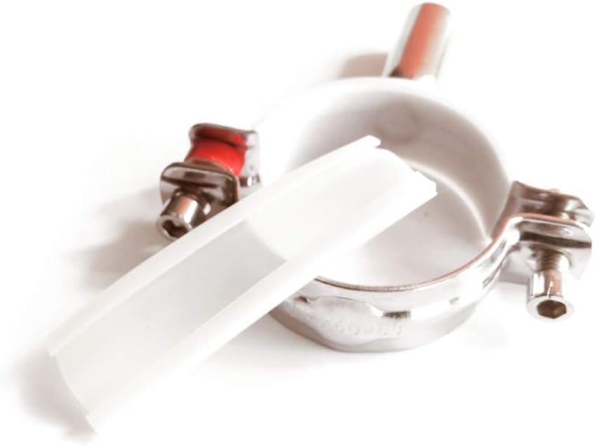 304# acier inoxydable M8 filetage interne vis de serrage de tuyau rev/êtu de tapis antid/érapant en silicone D10-D108mm,2PCS//Pack /Φ10-14