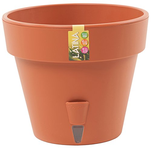 Santino Self Watering Planter Latina 6.9 Inch Terracotta Flower Pot
