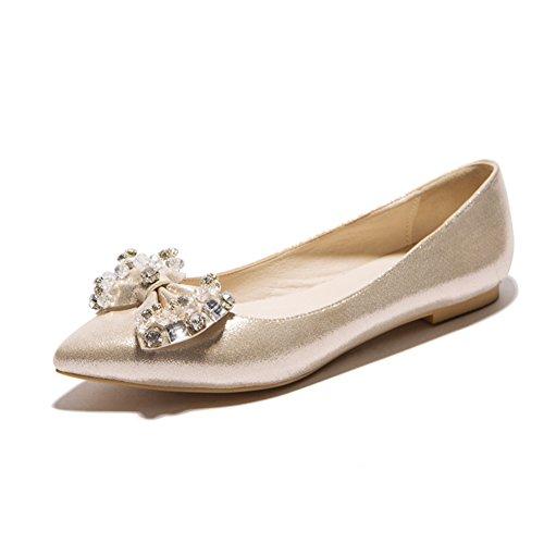 Versión coreana de los zapatos puntiagudos/Zapatos de arco/las chicas princesa zapatos/Zapatos de corte bajo A