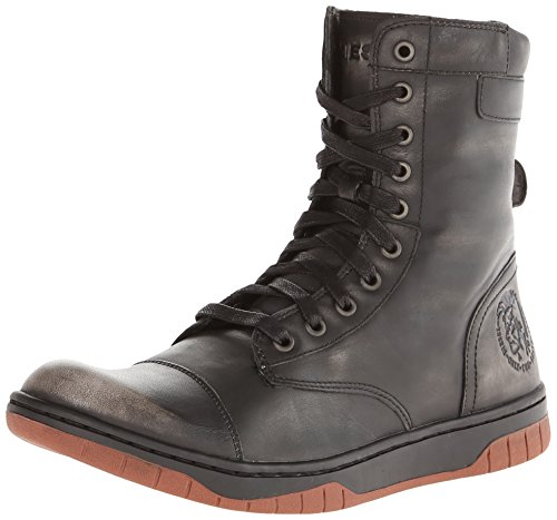 Diesel Men's Tatradium Basket Butch Zip Combat Boot, Black/G