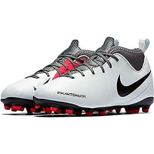 NIKE JR Hypervenom Phantom Vision Club DF MG Soccer Cleat (2.5Y US (Big Kid), Pure Platinum) (Kids Soccer Shoes Nike Hypervenom)